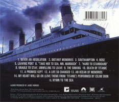 Back Cover of CD